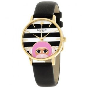 Kate Spade stripe monkey watch